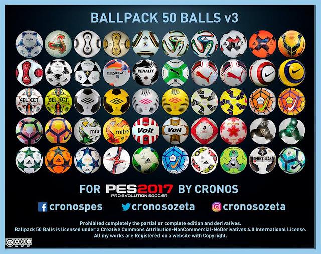 PES 2017 Ballpack V3 dari Cronos