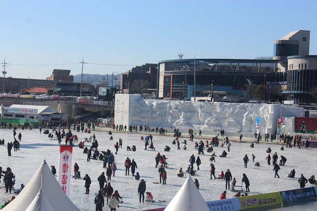 WINTER-refic Activities at the Hwacheon Sancheono(Trout) Ice Fishing Festival (얼음나라 화천산천어축제)