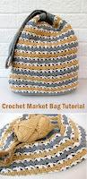 Crochet Market Bag Tutorial + Pattern