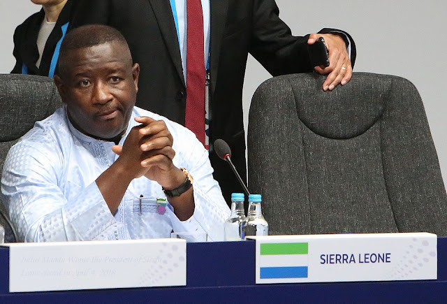 Julius Maada Wonie Bio President of Sierra Leone elected in April 4, 2018