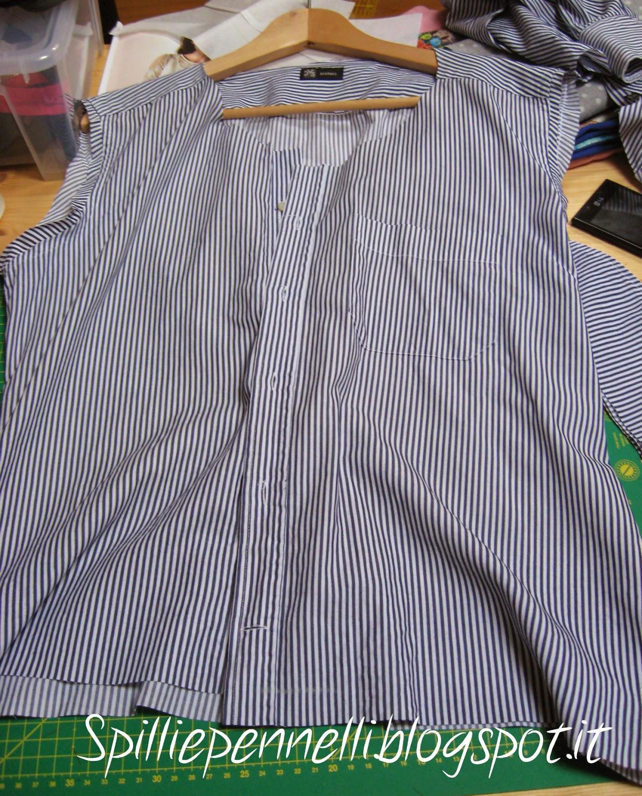 fare il refashion della camicia da uomo