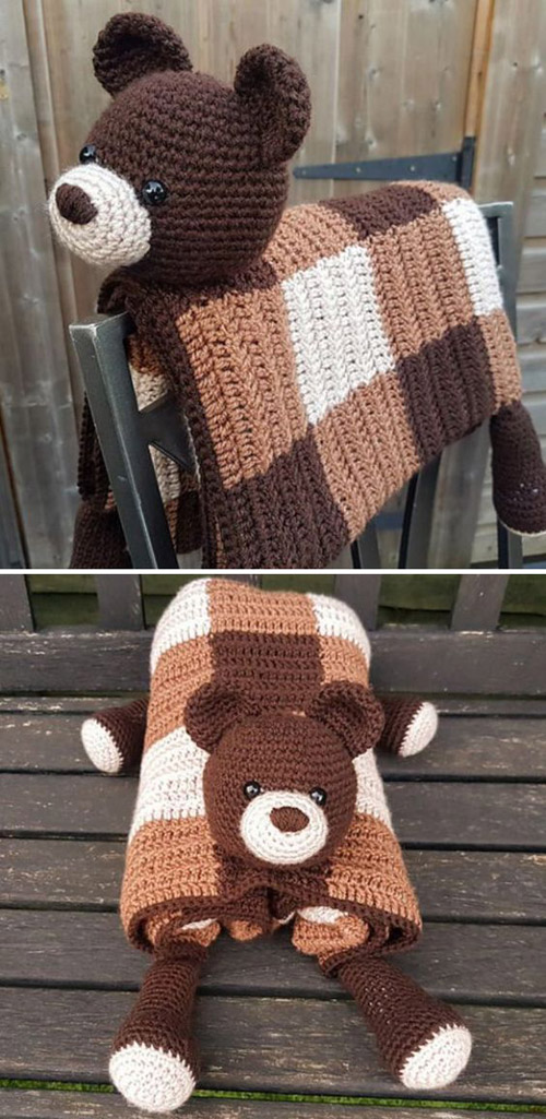 Woodland Bear Blanket - Crochet Pattern
