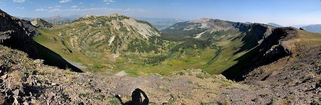 scarp ridge, crested butte, colorado, hiking, wilderness, panorama