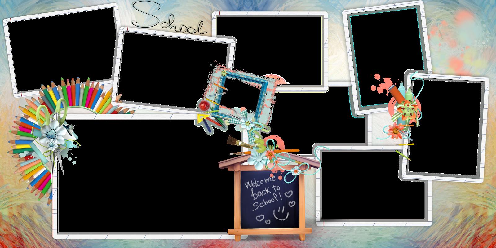 Дизайн фотокниг: Шаблоны для школьной фотокниги
