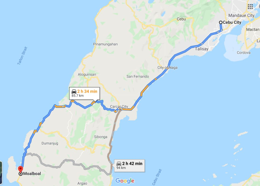 Cebu City to Moalboal