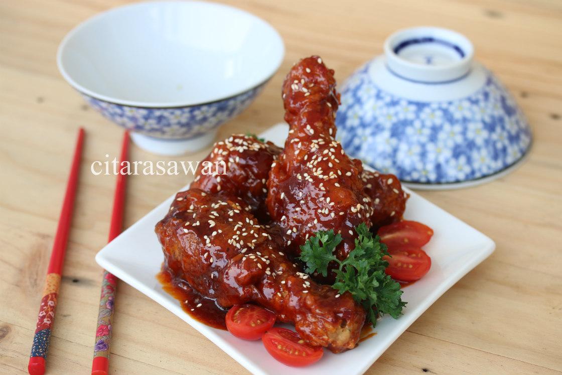 Ayam Goreng Korea / Korean Fried Chicken ~ Resepi Terbaik