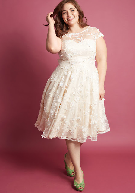 Eyes on the Bride A-Line Dress Plus Size