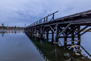 The Wooden Bridge, Woodbridge Island  :  Copyright Vernon Chalmers