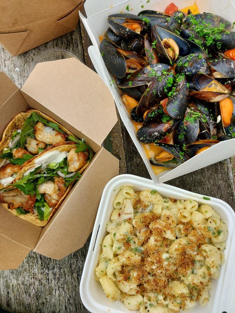 Mac & cheese, fish tacos & mussels from Mara Fish Bar