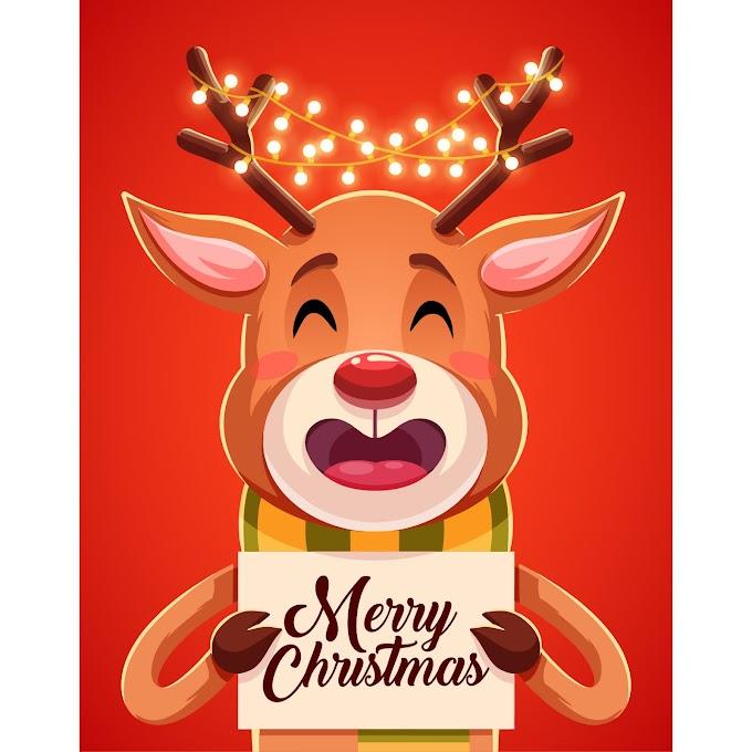 Merry Christmas New year cartoon design illustration vector