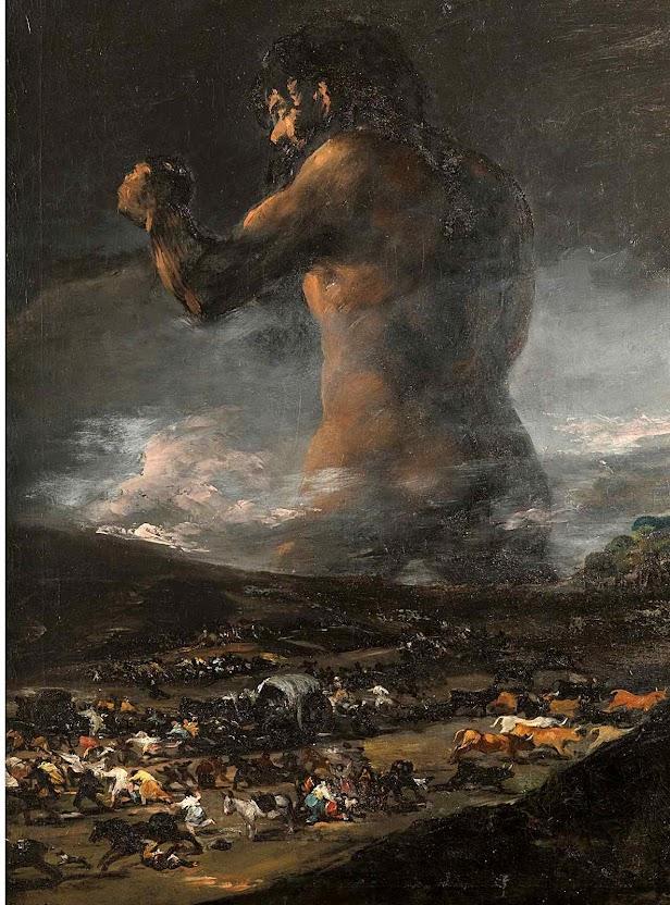 O pânico, ou O colosso, atribuído a um seguidor de Francisco Goya (1746-1828), Museo del Prado, Madri