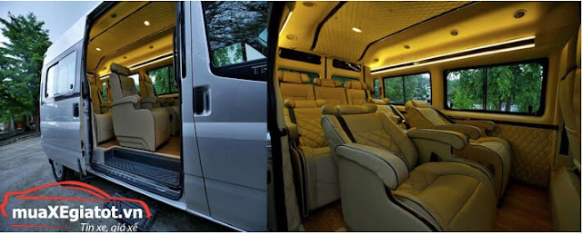 Details of exclusive Ford Transit Limousine in Saigon Ford 2019