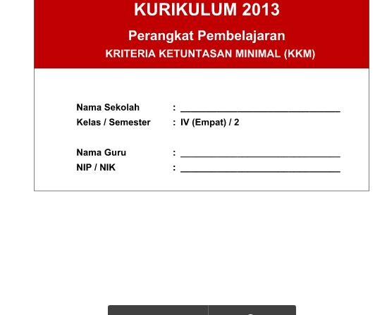 KKM Kurikulum 2013 SD Kelas 4 PJOK Semester 2 Revisi