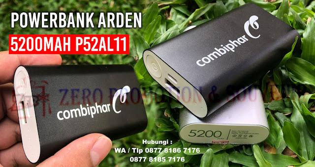 jual Souvenir Perusahaan Powerbank Arden 5200mAh P52AL11, Power Bank Promosi : POWER BANK METAL 5200MAH P52AL11