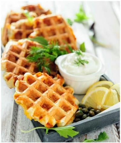 30. Waffle Smoked Salmon & Dill