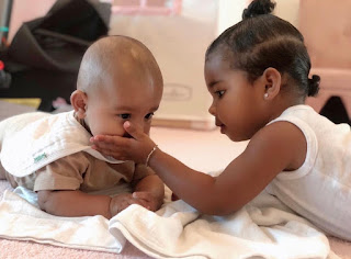 Kim Kardashian shares cute picture of 'besties' True and Psalm playing together