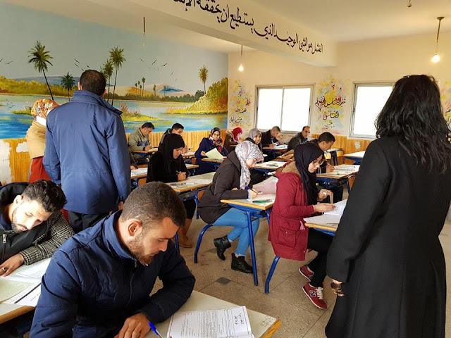 المدير الجهوي لجهة الدار البيضاء-سطات والمديرة الاقليمية للوزارة في زيارة تفقدية لمراكز الاختبارات لمباراة توظيف الأساتذة بموجب عقود بمديرية عين الشق