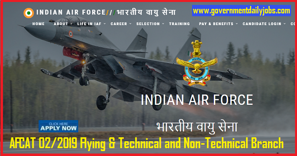 IAF 242 Commissioned Officer (AFCAT) 02/2019 Ground Duty, Flying Branch