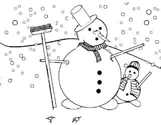 דפי צביעה איש שלג