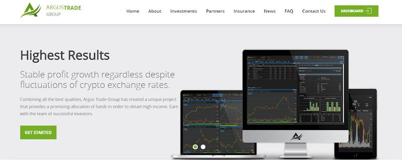 [SCAM] Review Argus Trade Group - Site chiến lâu dài lãi up 2.9% hằng ngày - Thanh toán tức thì