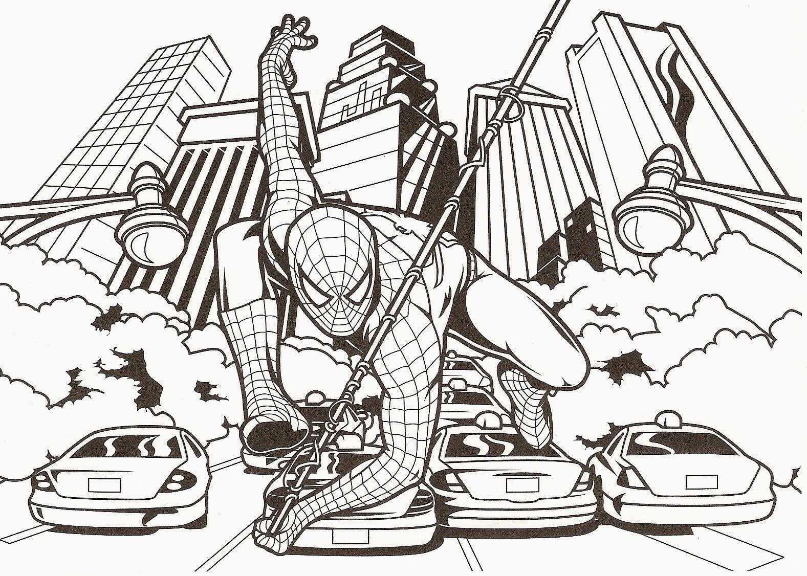 Imprimer Spiderman A Colorier Apercu Lesgenissesdanslmais