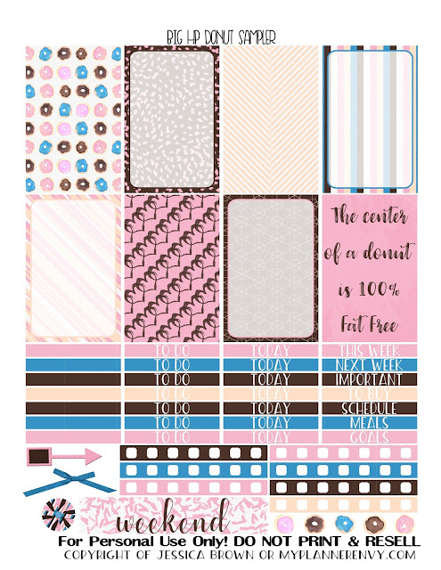 Free Printable Donut Sampler for the Big Happy Planner from myplannerenvy.com
