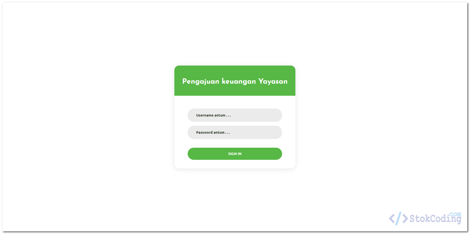 Sistem Informasi Web Pengajuan Anggaran (PHP)