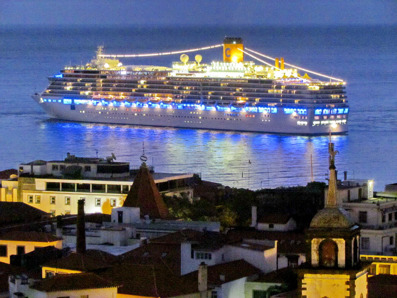Costa Deliziosa arriving today at Funchal port