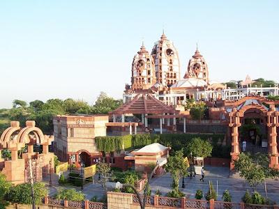 Best places to visit In Delhi, Iskcon Temple