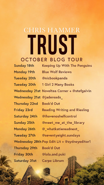 Blog tour tile for Trust by Chris Hammer