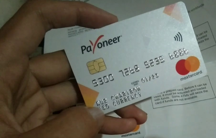 Application and activation procedure for Payoneer Prepaid Debit MasterCard