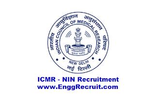 ICMR - NIN Recruitment