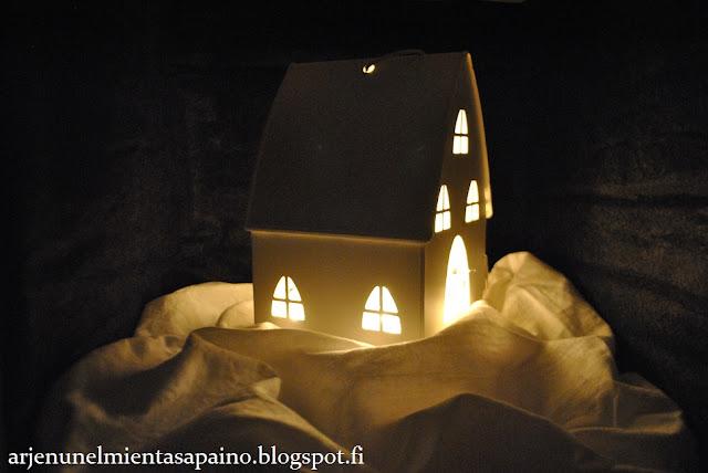 jouluvalot, tunnelmaa, valot, lyhty, asetelma