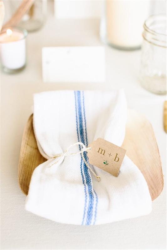 servilleta de lino blcno con detalle marinero chicanddeco