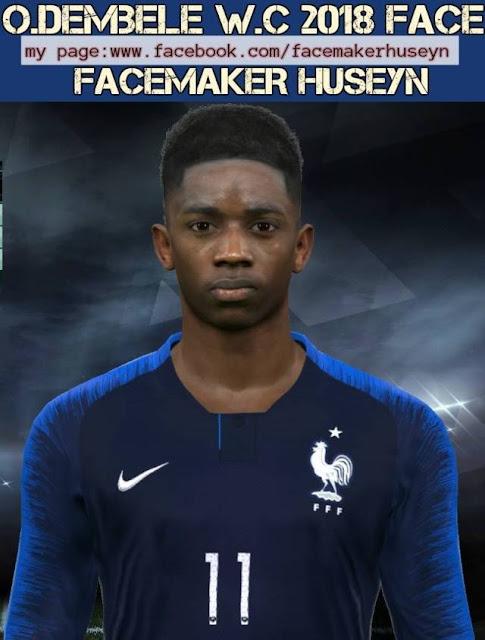 Ousmane Dembele WC 2018 Face PES 2017