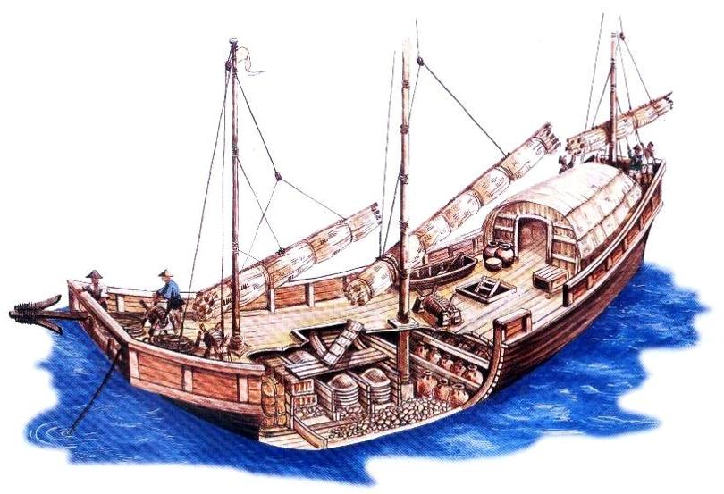 Pandanan Shipwreck ship drawing