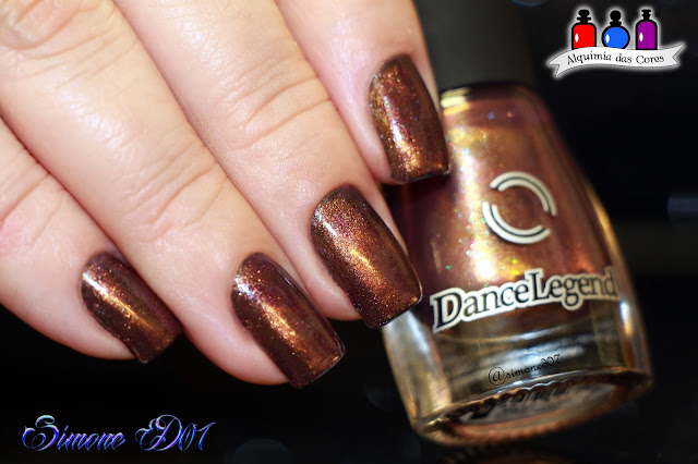 Dance Legend, Magnetic, Magnético, Marrom, Roxo, Dirty Love, Golden Eye Collection, Brown, Purple, Simone D07, Mony D07, esmalte importado, nail polish, Dirty Love