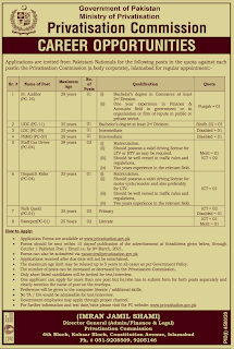 Latest Jobs in Ministry of Privatization 2021