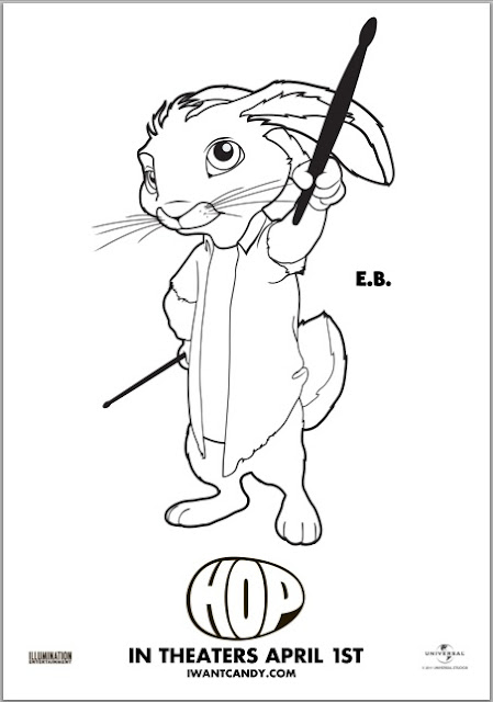 Free Hop Coloring Page