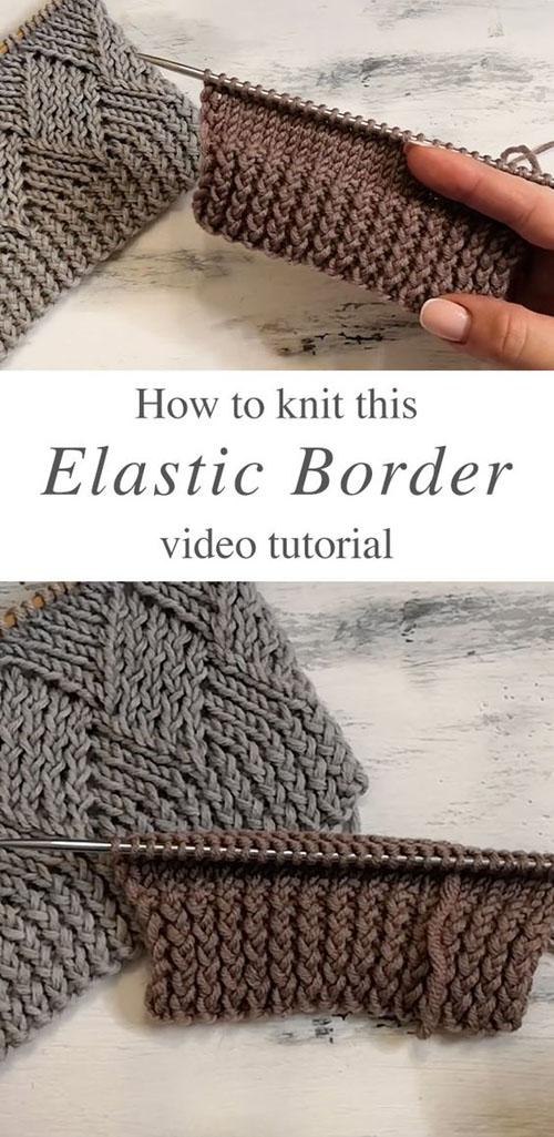 Knit Elastic Border - Tutorial