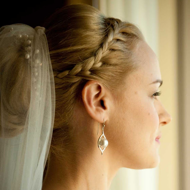 Understated Platted Wedding Hairstyle.