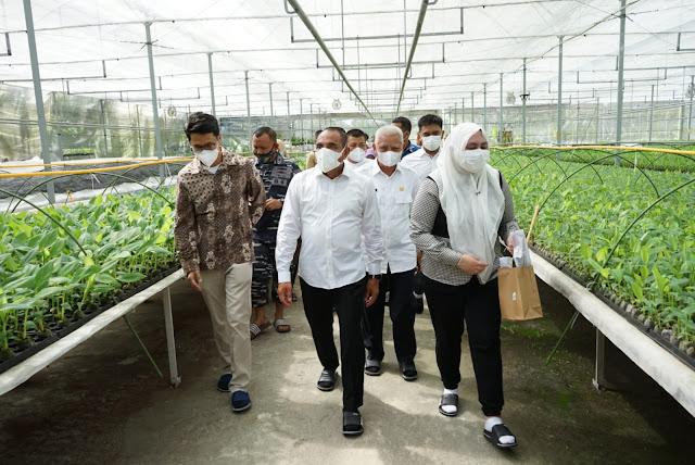 Bupati bersama Wabup Asahan, Mendampingi Gubsu Mengunjungi PT Hijau Surya Biotechindo