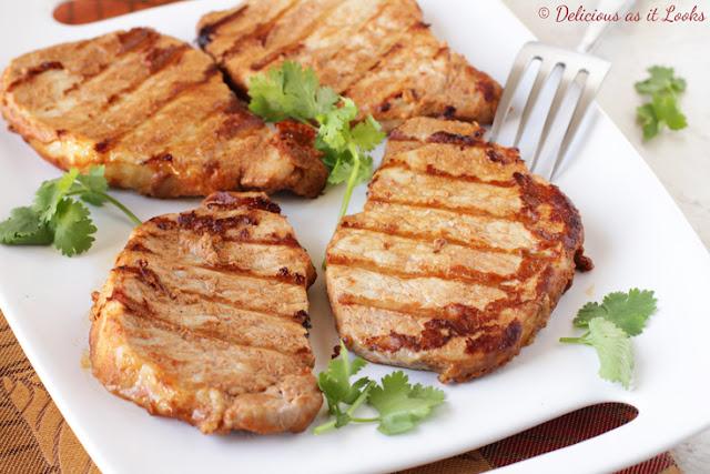 Low-FODMAP Tahini-Maple Grilled Pork Chops