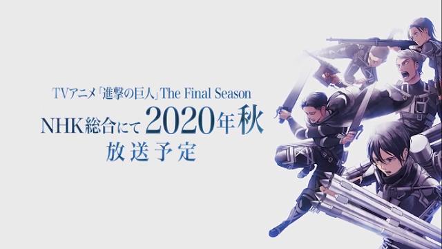 Final Season Shingeki no Kyojin Akan Rilis Pada Fall 2020