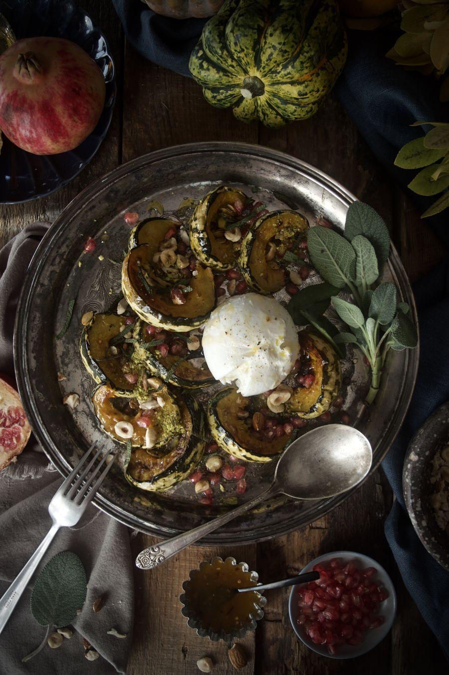 ensalada-templada-de-calabaza-al-horno-con burrata-y-frutos-secos