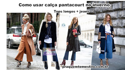 Como usar calça pantacourt no inverno?