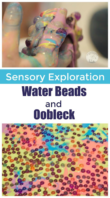 Super Sensory Exploration with Oobleck and Water Beads
