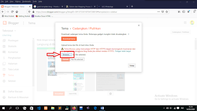 Cara Simple Mengganti Template (Tema) Blogger 2020