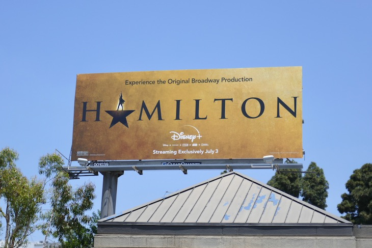 Hamilton Disney movie billboard