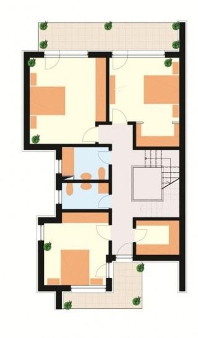 Plano de casa de tres pisos planos de casas gratis y for Planos de casas de 3 pisos